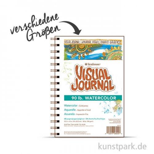Strathmore Visual Journal 400 - Aquarellpapier, 34 Seiten, 190g