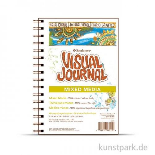 Strathmore Visual Journal 500 - Mixed Media Papier, 34 Seiten, 190g 14 x 20,3 cm