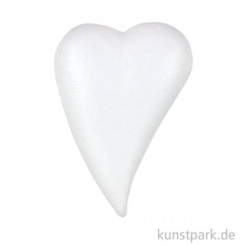 Styroporform Herz flach gewölbt zum kleben 9 cm