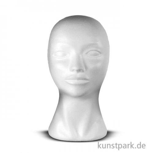 Styroporkopf Frau 29 x 16 cm