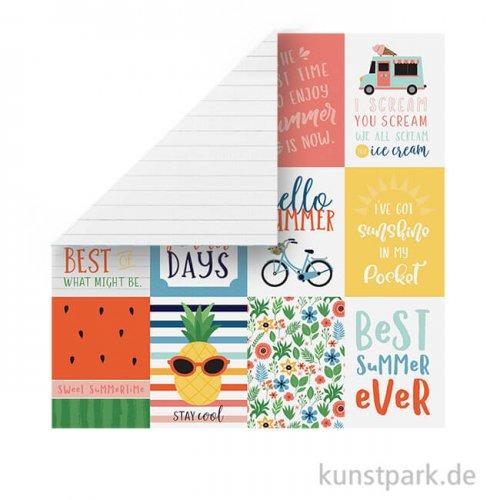 Summertime Scrappapier - 3x4 Journaling Cards