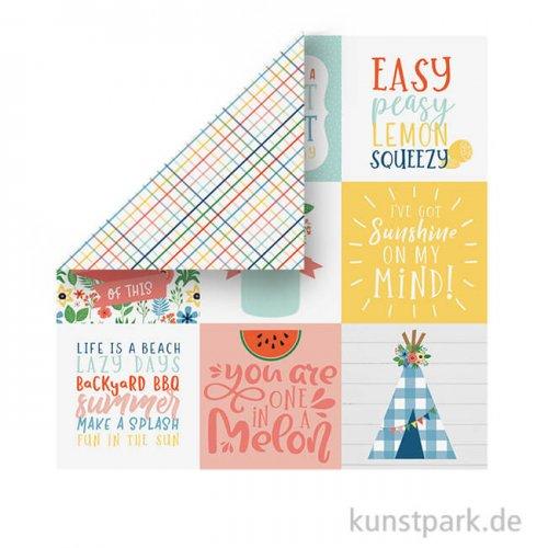 Summertime Scrappapier - 4x4 Journaling Cards