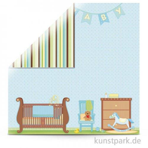 Sweet Baby Boy-Room - Scrapbookingpapier 30,5x30,5 cm, 190 g