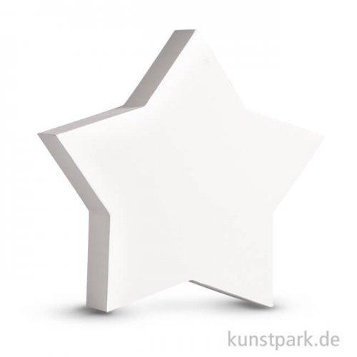Stern aus MDF, weiß, Höhe 11 cm, Stärke 2 cm