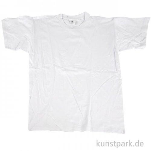 T-Shirt mit Rundhals aus Baumwolle - weiß