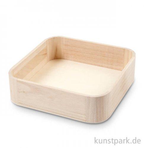 Tablett aus Holz, Größe 25x25 cm