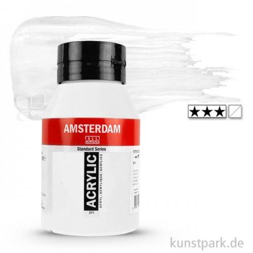 Talens AMSTERDAM Acrylfarben 1 Liter Flasche | 104 Zinkweiß