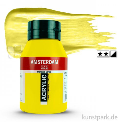 Talens AMSTERDAM Acrylfarben 1 Liter Flasche   275 Primärgelb