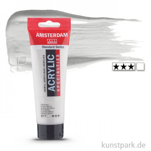 Talens AMSTERDAM Acrylfarben 120 ml Tube | 817 Perlweiß