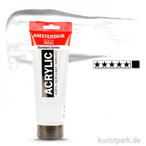 Talens AMSTERDAM Acrylfarben 250 ml Tube | 105 Titanweiß