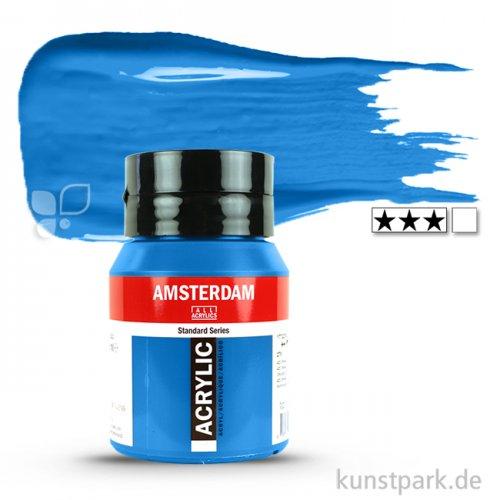Talens AMSTERDAM Acrylfarben 500 ml Flasche | 570 Phthaloblau