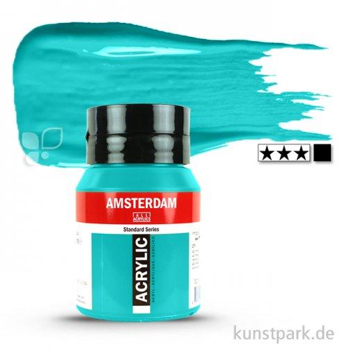 Talens AMSTERDAM Acrylfarben 500 ml Flasche   661 Türkisgrün