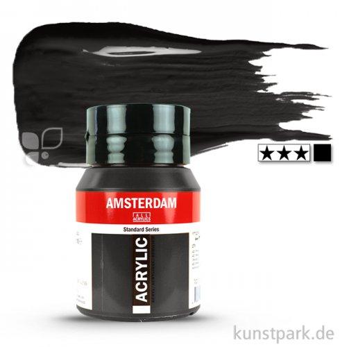 Talens AMSTERDAM Acrylfarben 500 ml Flasche   702 Lampenschwarz