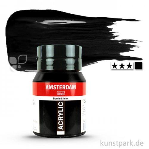 Talens AMSTERDAM Acrylfarben 500 ml Flasche | 735 Oxidschwarz
