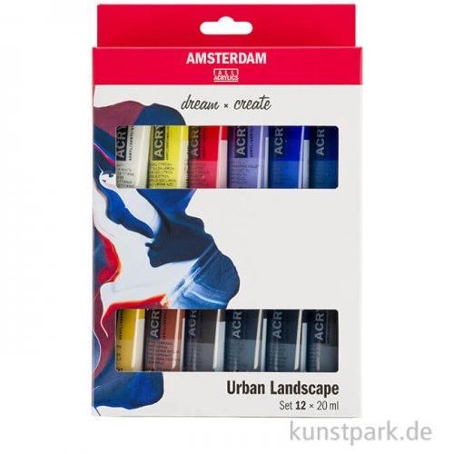 Talens AMSTERDAM Acrylfarben Set mit 12 x 20 ml - Urbane Farben