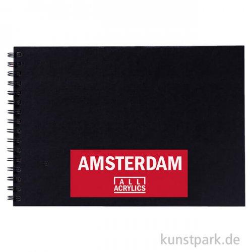 Talens AMSTERDAM All Acrylics Blackbook Spiral, 30 Blatt, 250g, DIN A4