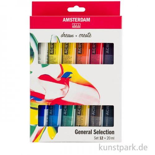 Talens AMSTERDAM Acrylfarben Introset II mit 12 x 20 ml