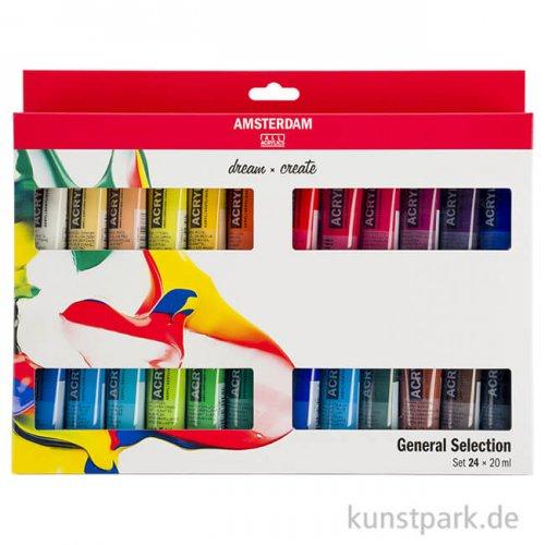 Talens AMSTERDAM Acrylfarbe Standard Series Introset III mit 24 Tuben 20 ml
