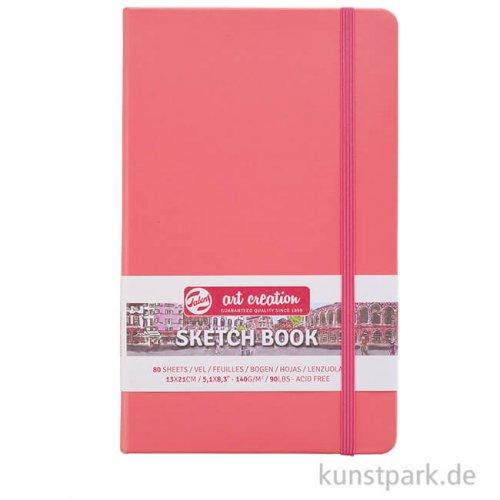 Talens Art Creation - Skizzenbuch Coral Red, 80 Blatt, 140g 13 x 21 cm