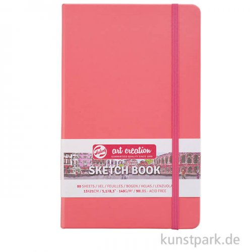 Talens Art Creation - Skizzenbuch Coral Red, 80 Blatt, 140g