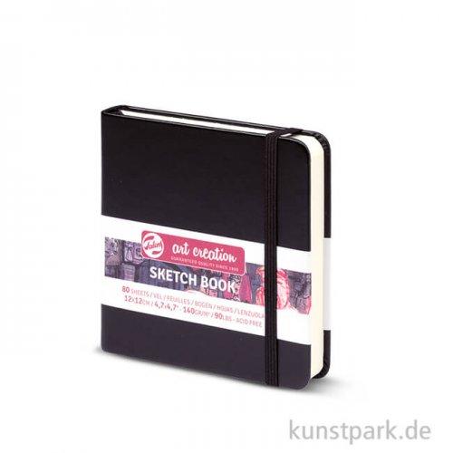 Talens Art Creation - Skizzenbuch Schwarz, 80 Blatt, 140g 12 x 12 cm