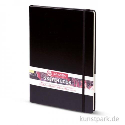Talens Art Creation - Skizzenbuch Schwarz, 80 Blatt, 140g 21 x 29,7 cm
