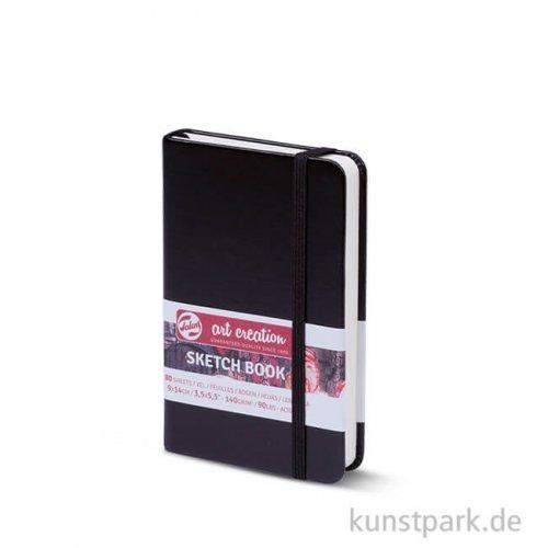 Talens Art Creation - Skizzenbuch Schwarz, 80 Blatt, 140g 9 x 14 cm