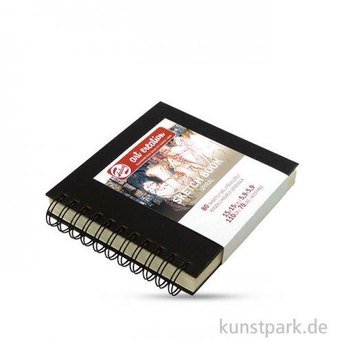 Talens Art Creation - Skizzenbuch Spiral, 80 Blatt, 110g 15 x 15 cm