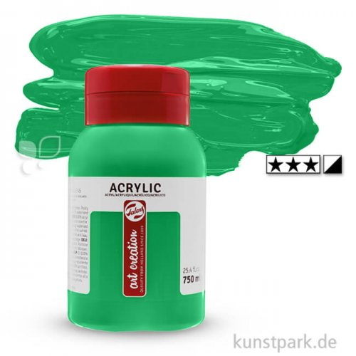 Talens Art Creation Acrylfarben 750 ml Flasche   618 Permanentgrün hell