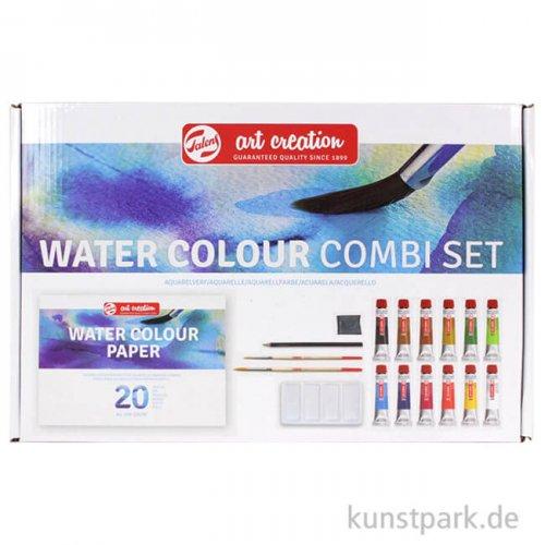 Talens Art Creation Aquarellfarben Kombi-Set mit 12 Tuben 12 ml und Zubehör
