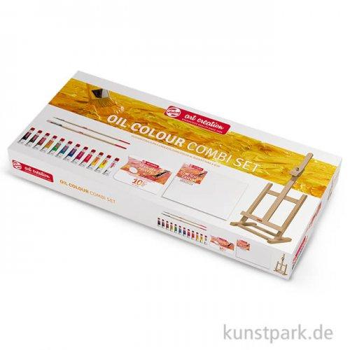 Talens ArtCreation Ölfarben Kombi-Set mit 12 Tuben 12 ml und Zubehör