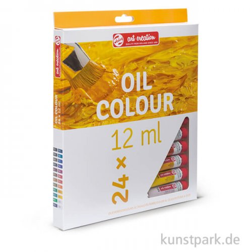 Talens Art Creation Ölfarben Set mit 24 Tuben 12 ml