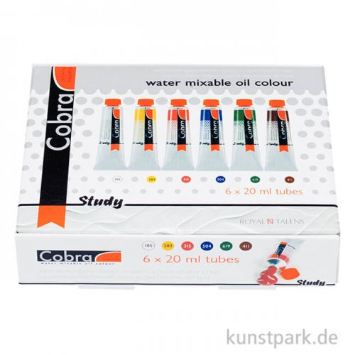 Talens COBRA Study wasservermalbare Ölfarbe Starterset klein 6x20 ml