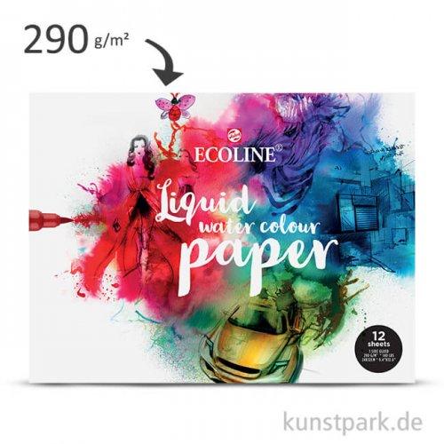 Talens ECOLINE - Water Colour Paper, 24x30 cm, 290g, 12 Blatt