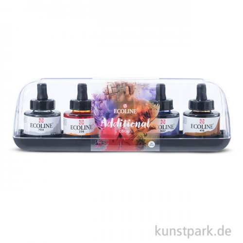 Talens ECOLINE Zusatzfarben Set mit 5 Gläsern 30 ml