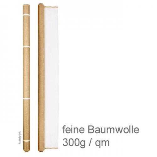 Talens Maltuch grundiert, feine Baumwolle 300g/qm - Rolle 10 m x 1,60 m