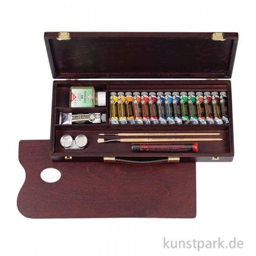 Talens REMBRANDT Ölfarbe Holzkasten Traditional 15 x 15 ml Tuben und Zubehör