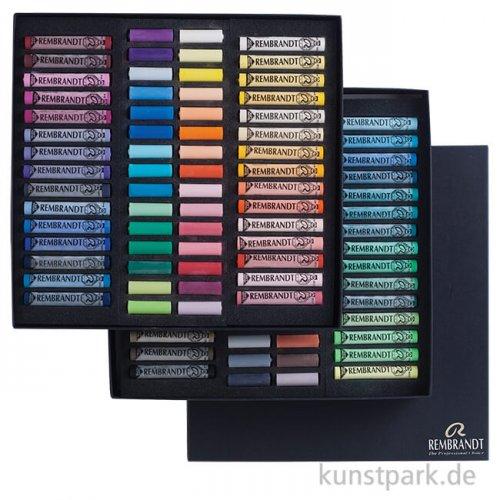 Talens REMBRANDT Pastell - Master Set mit 60 ganzen und 60 halben Pastellen