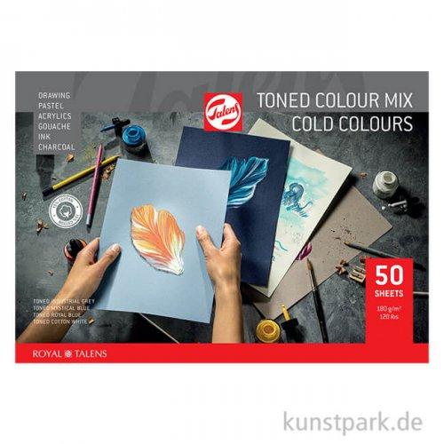 Talens Toned Mixed Media Papier - Kalt Mix, 50 Blatt, 180 g