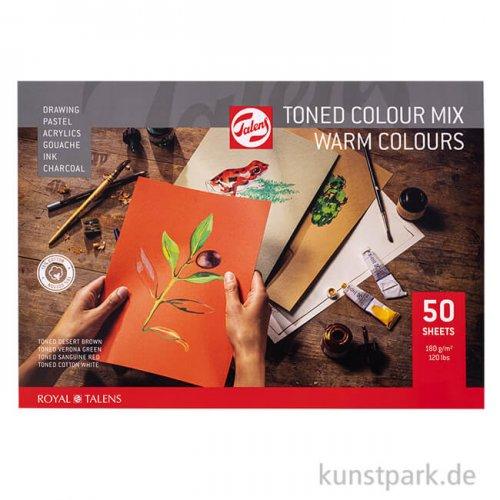 Talens Toned Mixed Media Papier - Warm Mix, 50 Blatt, 180 g