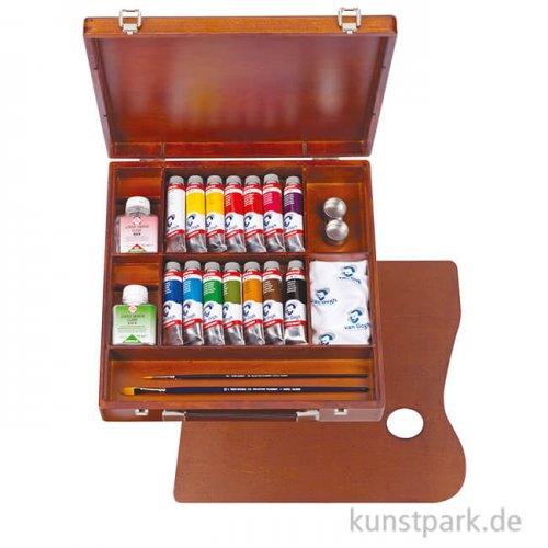 Talens VAN GOGH Acrylfarbe Holzkasten Inspiration - 14 x 40 ml Tuben und Zubehör