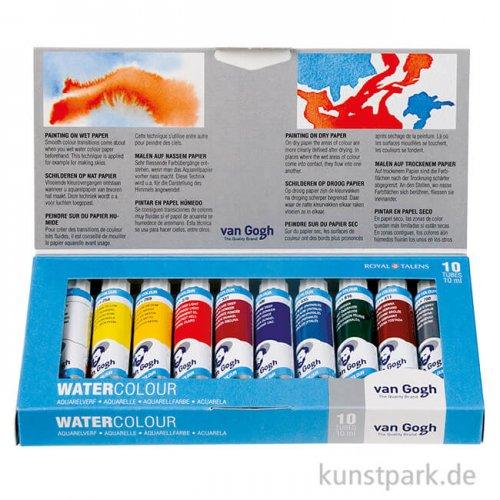 Talens VAN GOGH Aquarell Basis-Set mit 10 x 10 ml Tuben im Karton
