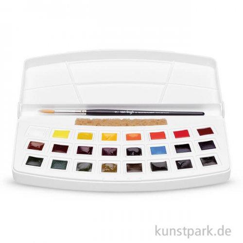 Talens VAN GOGH Aquarell Kunststoffbox Botanische Farben 24 halbe Napf