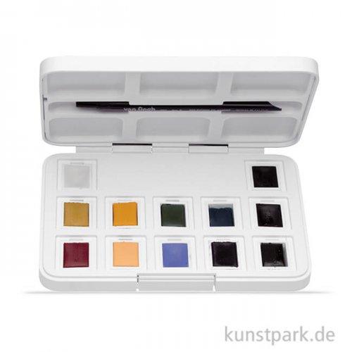 Talens VAN GOGH Aquarell Pocket Box Gedeckte Farben mit 12 halben Näpfen
