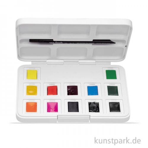 Talens VAN GOGH Aquarell Pocket Box Intensive Farben, 12 halbe Napf