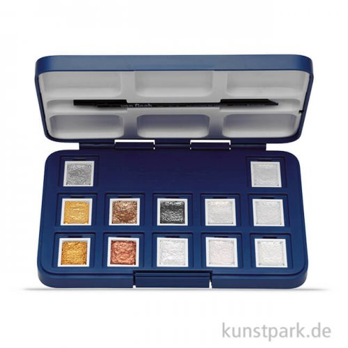 Talens VAN GOGH Aquarell Box Metallic Edition, 12 halbe Näpfe
