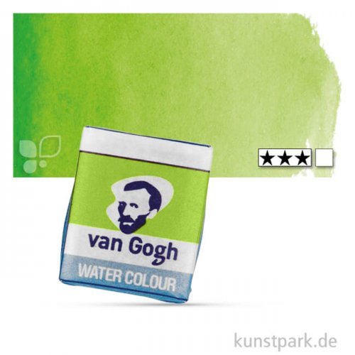 Talens VAN GOGH Aquarellfarben 1/2 Napf | 633 Permanentgelbgrün