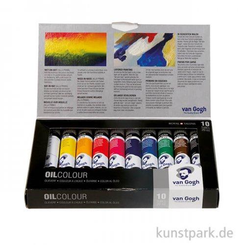 Talens VAN GOGH Ölfarbe Basis-Set mit 10 x 20 ml Tuben im Karton