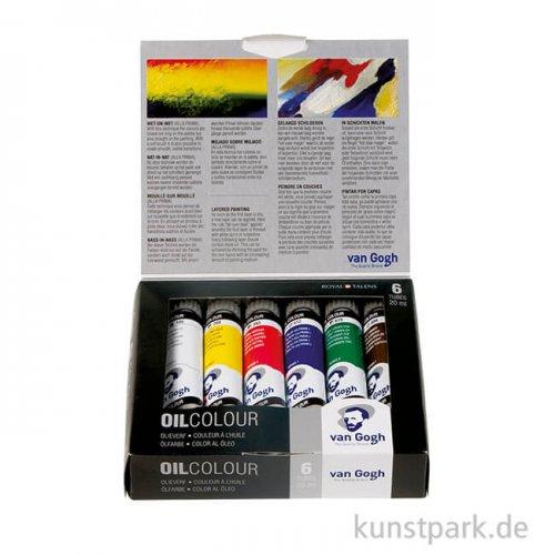 Talens VAN GOGH Ölfarbe Starterset mit 6 x 20 ml Tuben im Karton