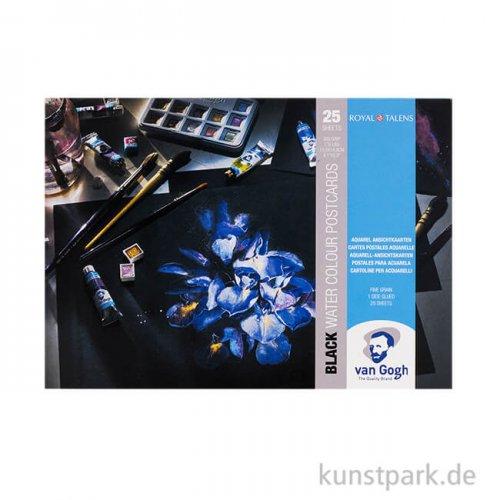 Talens VAN GOGH Postkartenblock Aquarell, Schwarz, DIN A6, 360 g